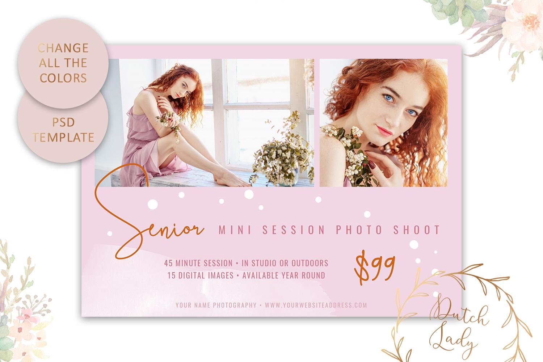 PSD Photo Mini Session Card Template - Design #32 example image 3