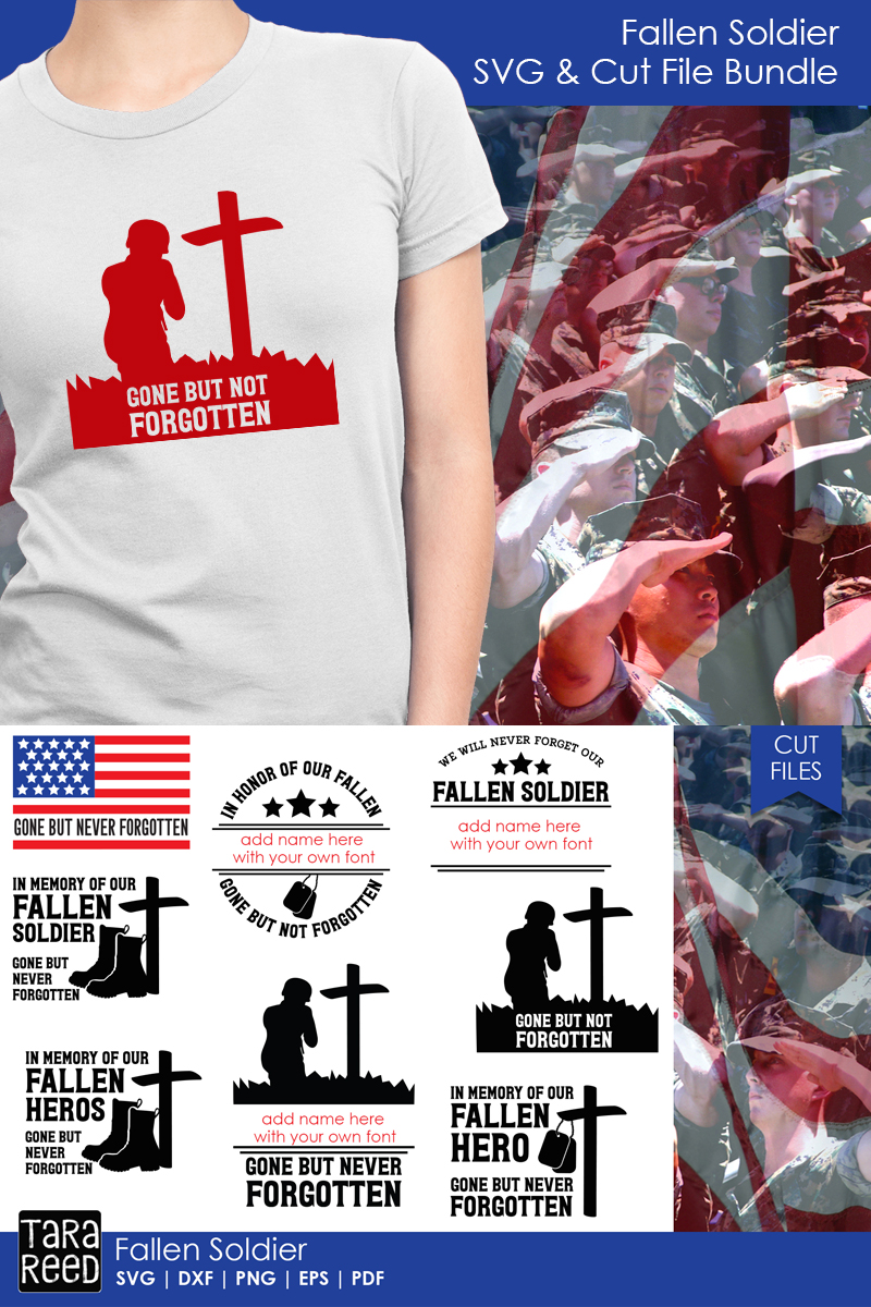 Fallen Soldier - Military SVG and Cut Files for Crafters example image 2