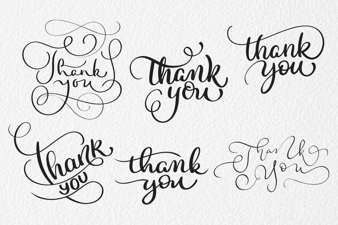 Thank You Calligraphy Lettering Collection example image 6