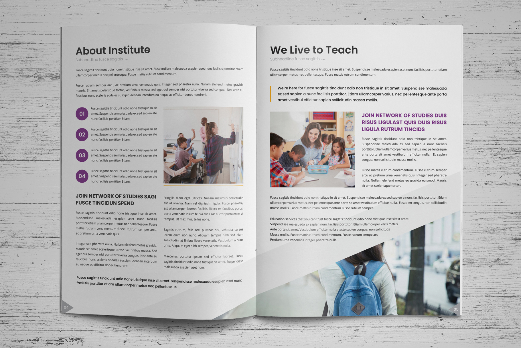 Education Prospectus Brochure v7 example image 3