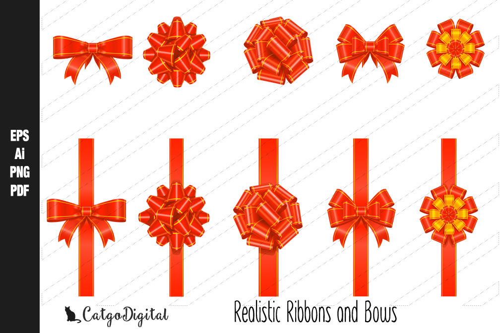 Realistic Ribbons and Bows example image 1