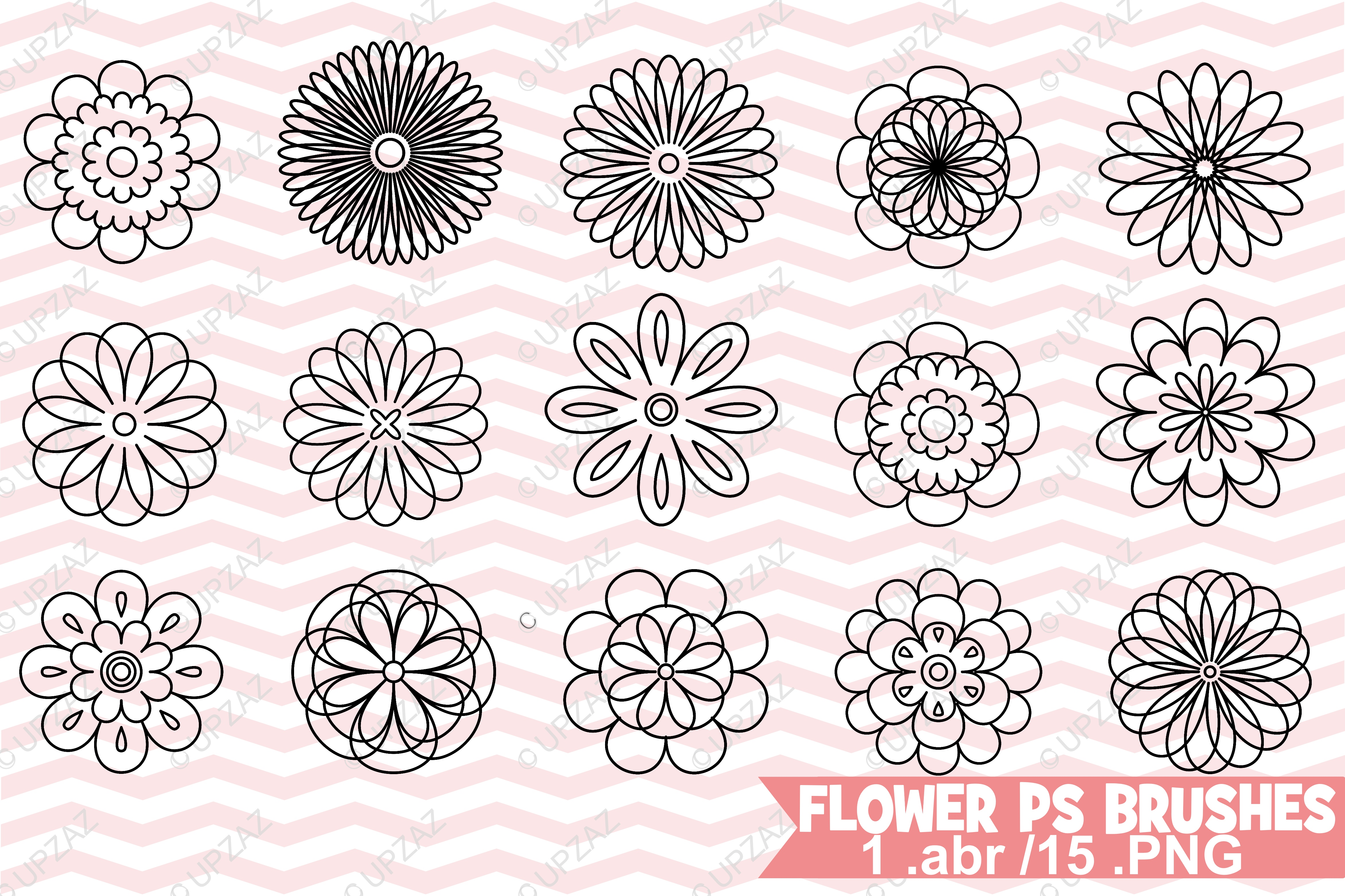 Photoshop Flower Brushes example image 1