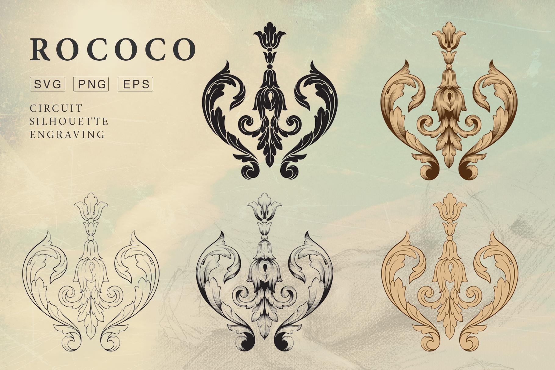 Rococo Romance Ornament page decor example image 3