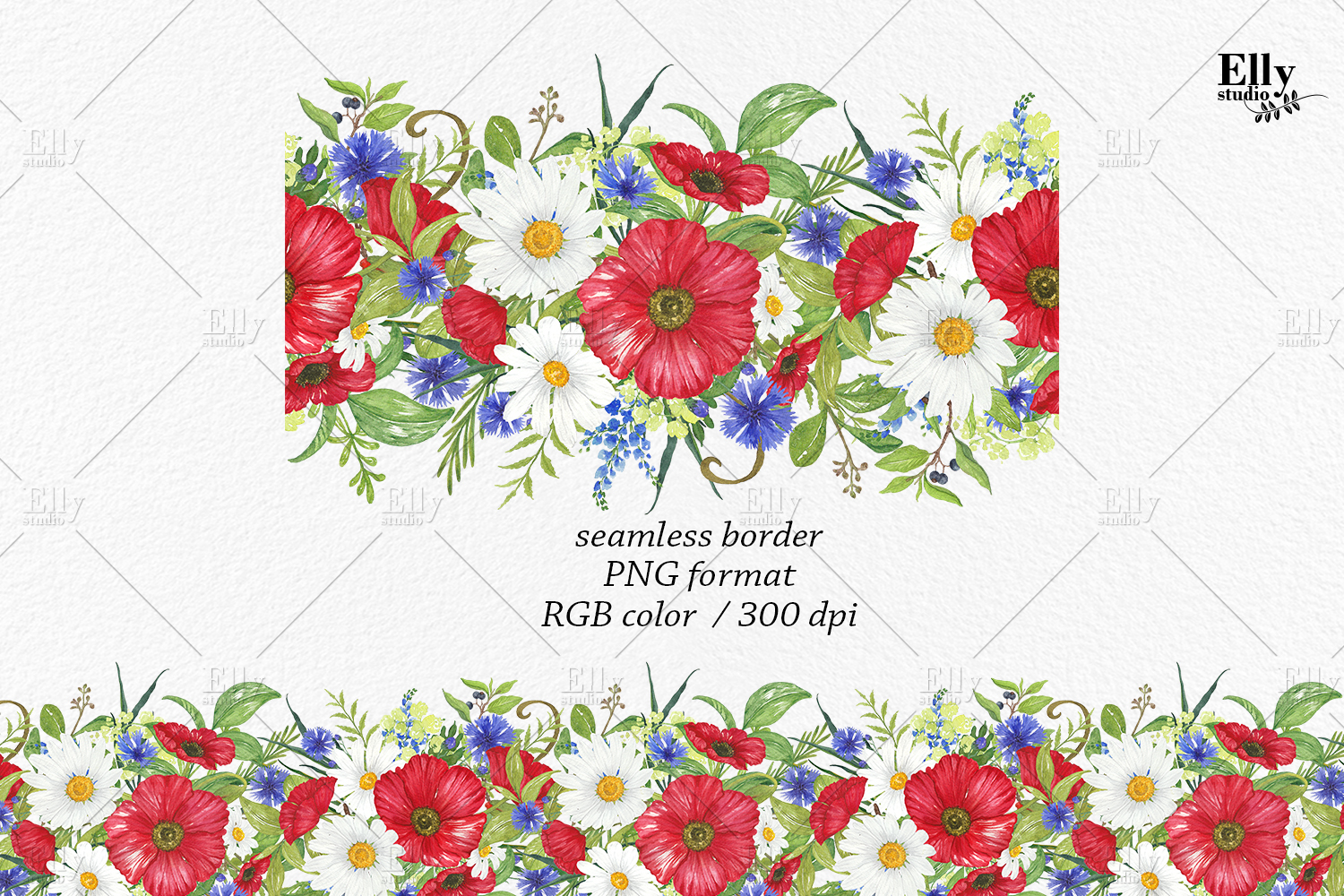 Watercolor Poppies Clipart Summer Flowers example image 4