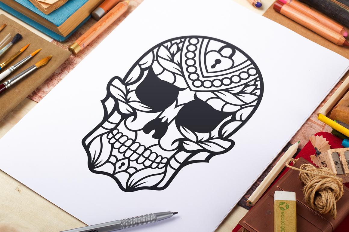 50 Vector Sugar Skulls example image 7