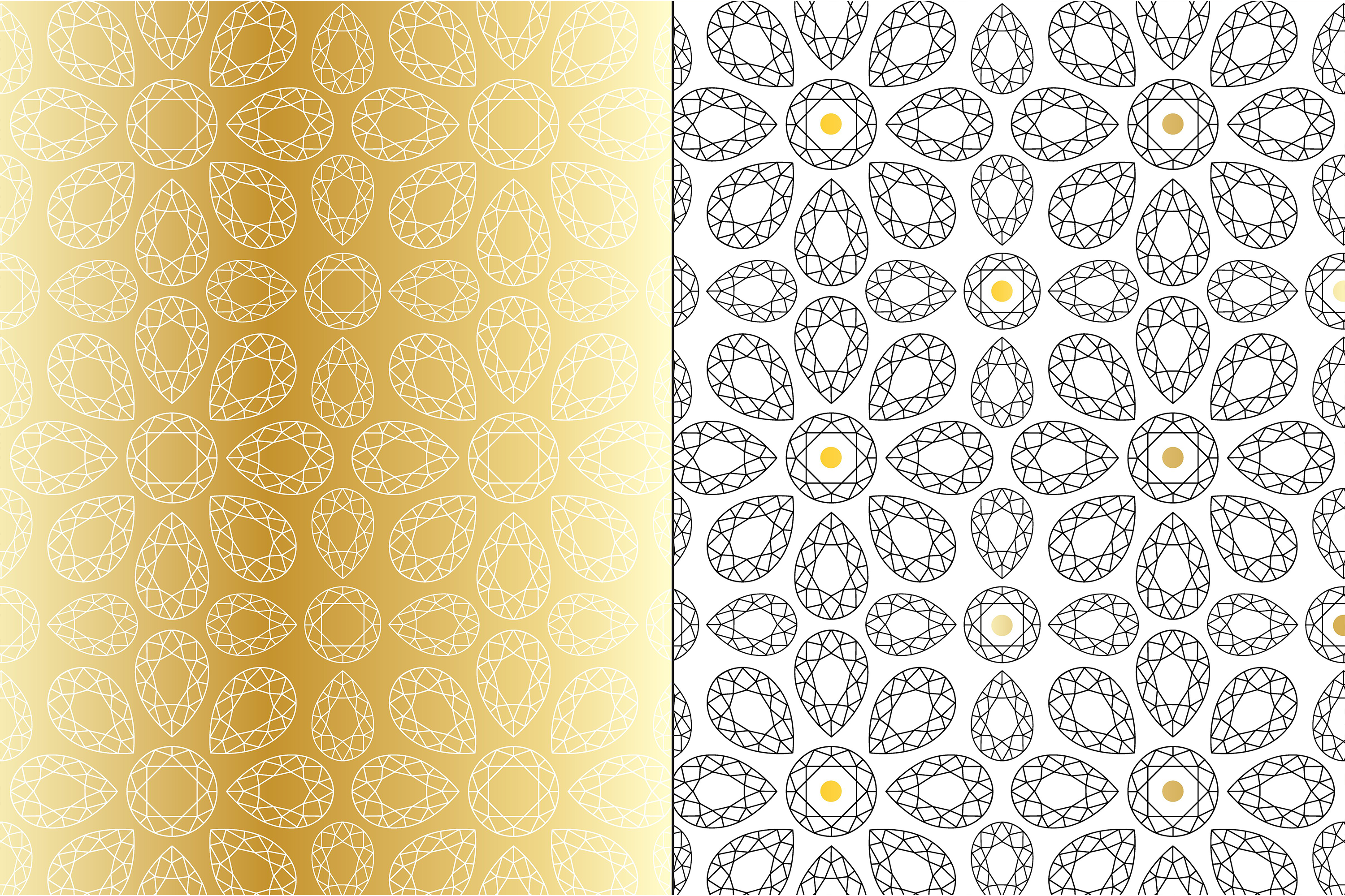 Gold Deco Patterns example image 4