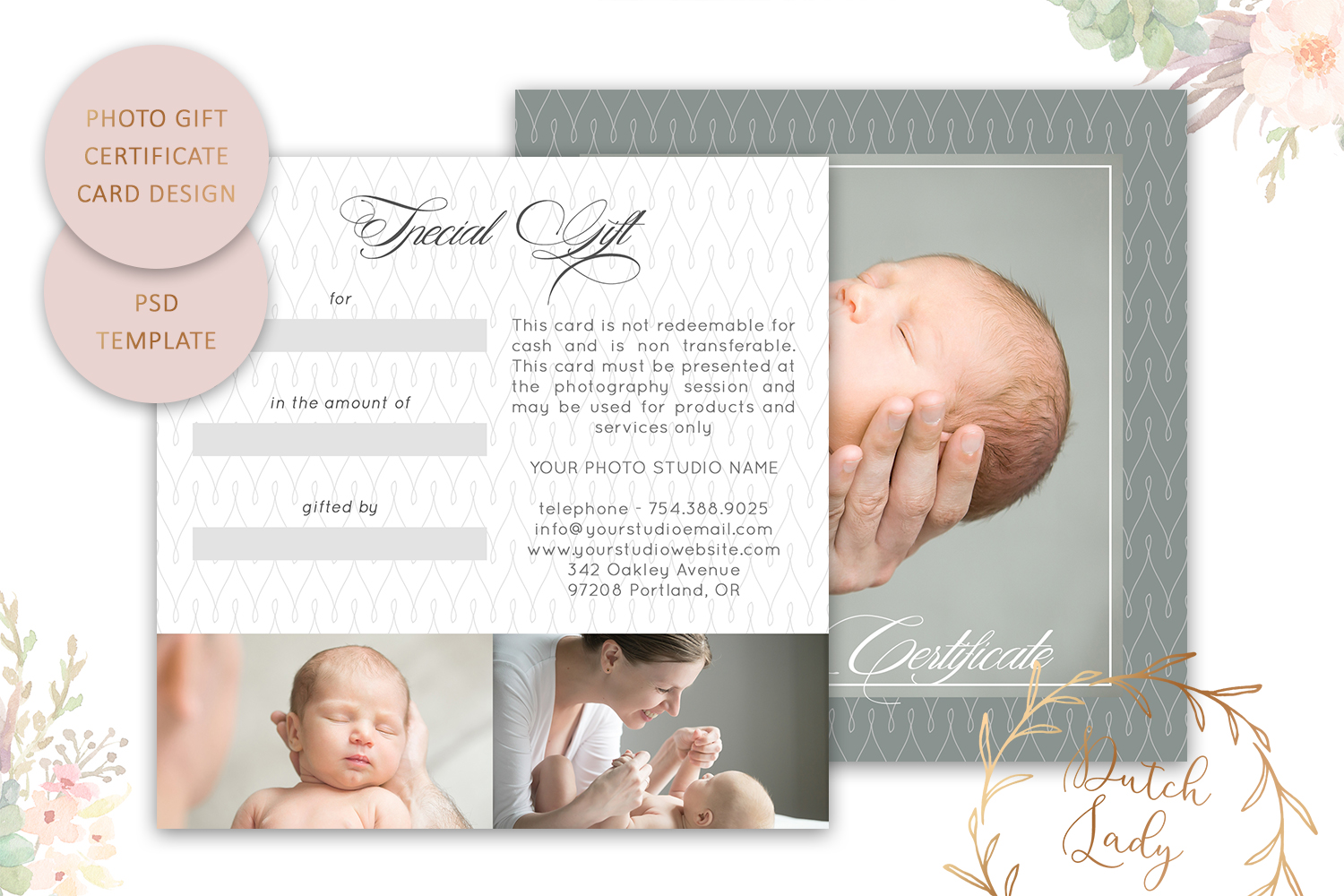 Photo Gift Card Template for Adobe Photoshop - #28 example image 2