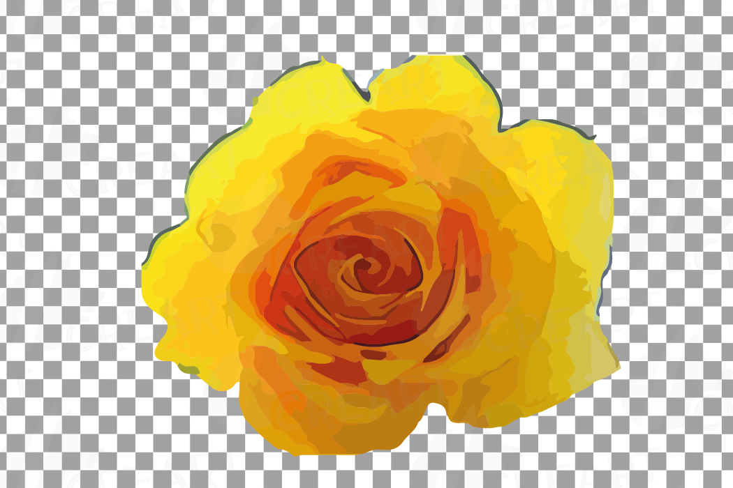Watercolor yellow flowers and green leaves clip art pack example image 15
