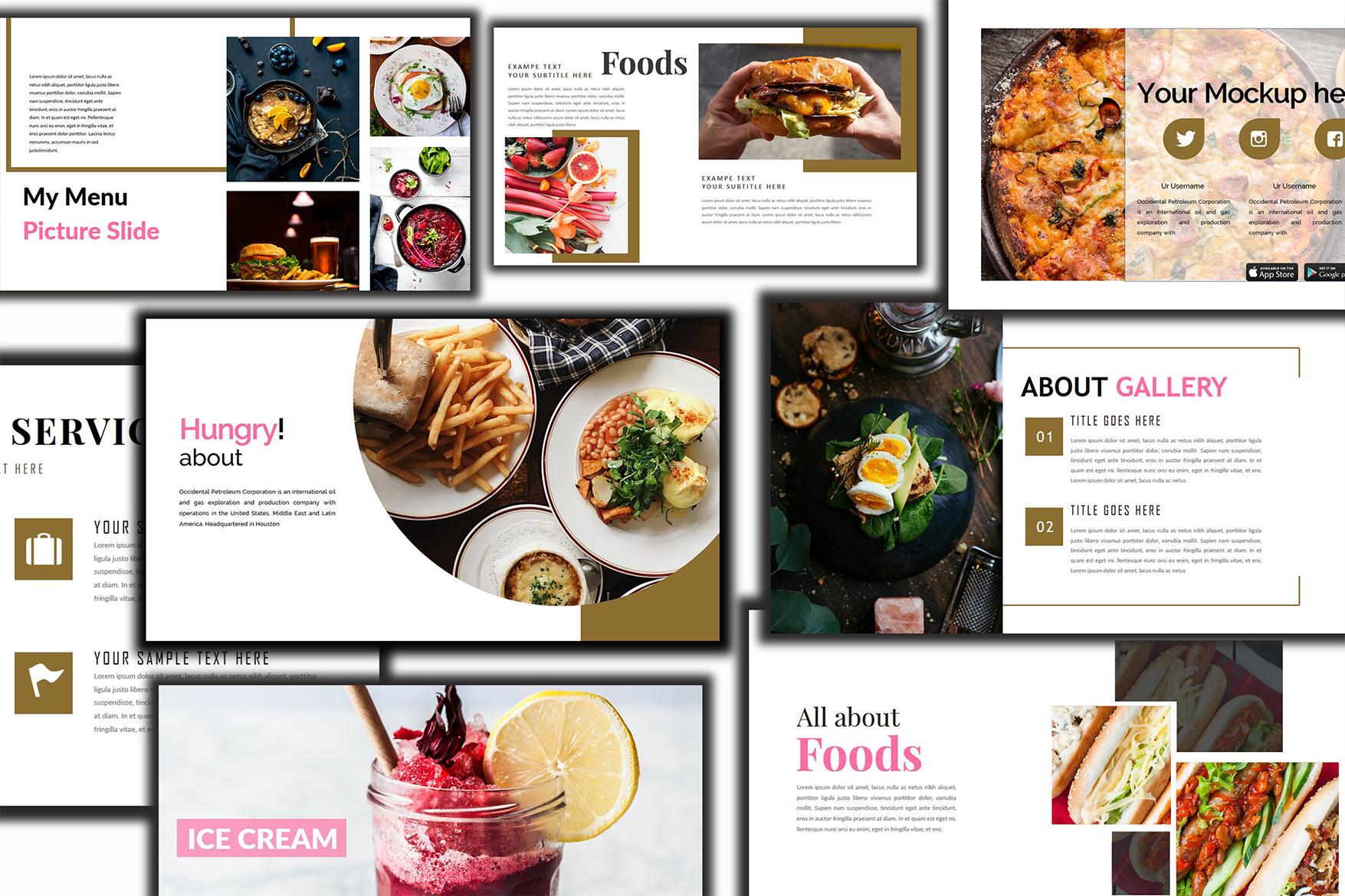 Delicious Food - Google Slides Presentation example image 1