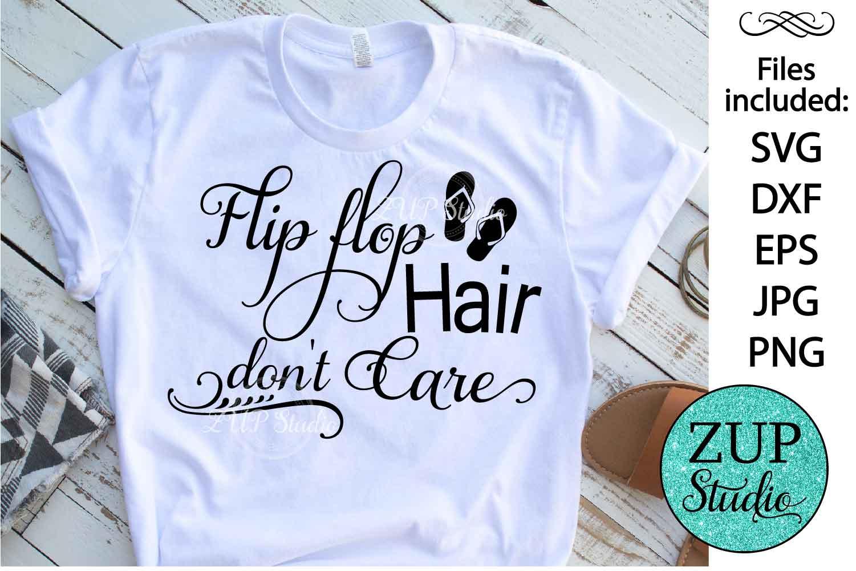 Flip Flop hair Digital Cutting files file 150 example image 1