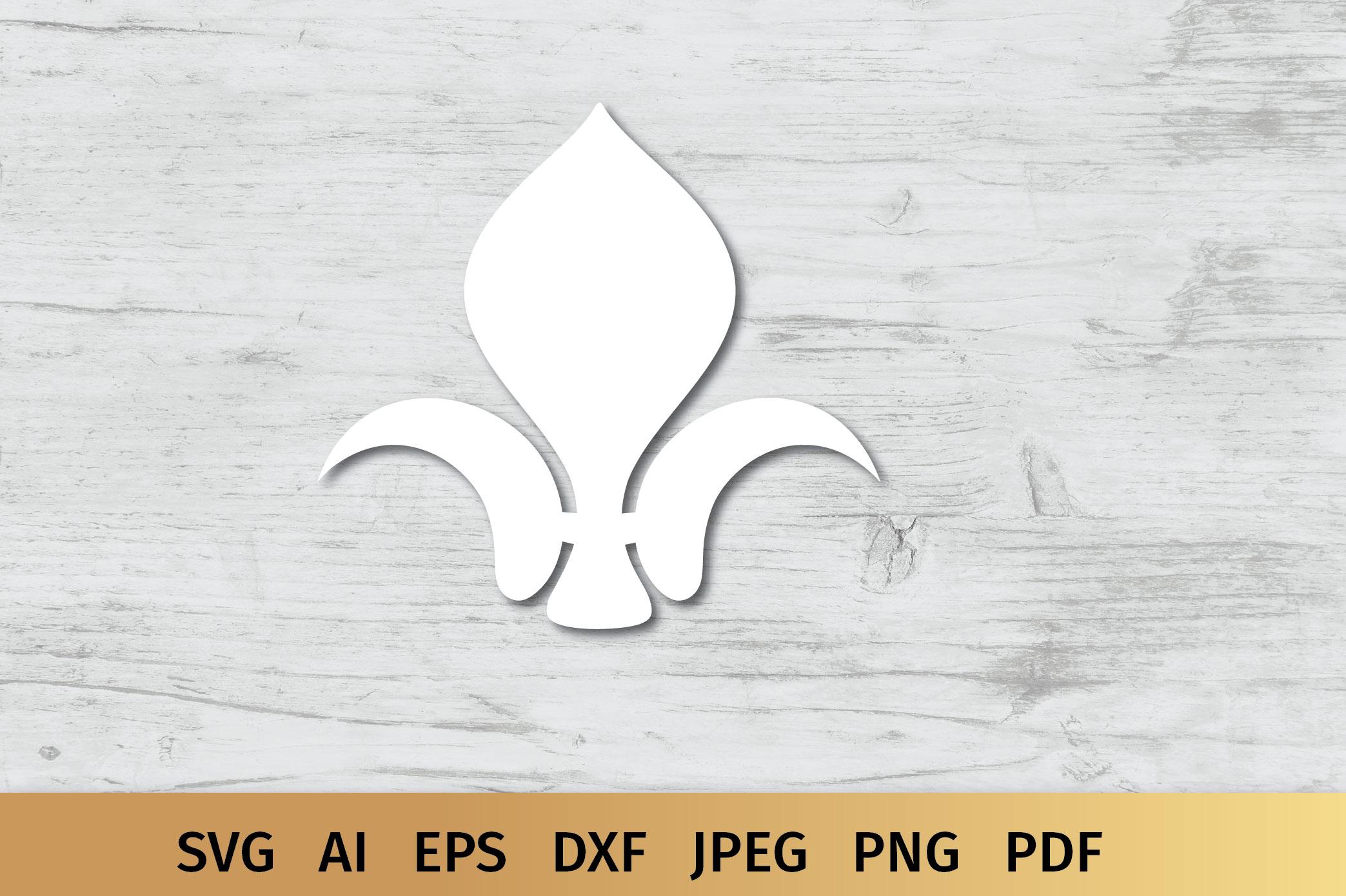 Fluer de Lis Monogram SVG example image 5