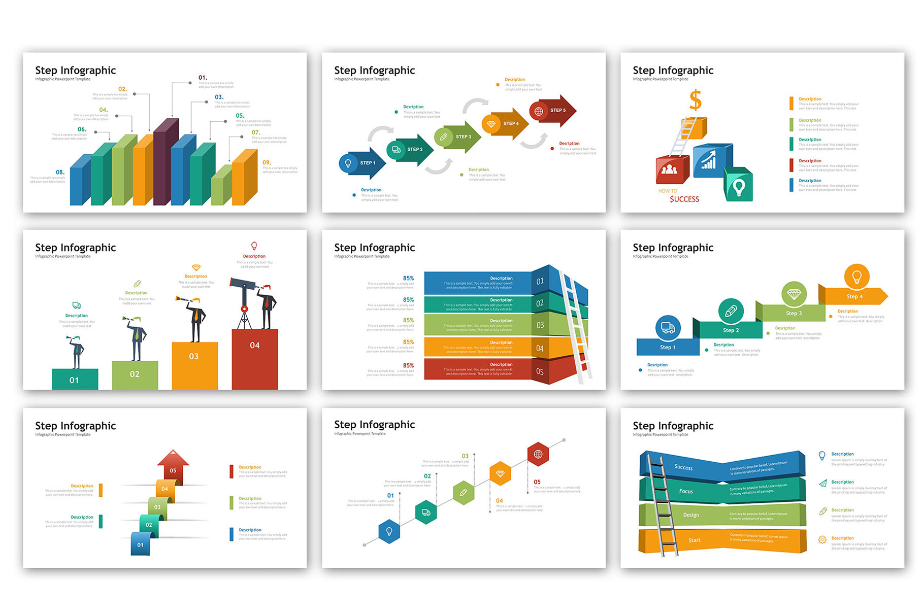 Step Presentation - Infographic Template example image 5