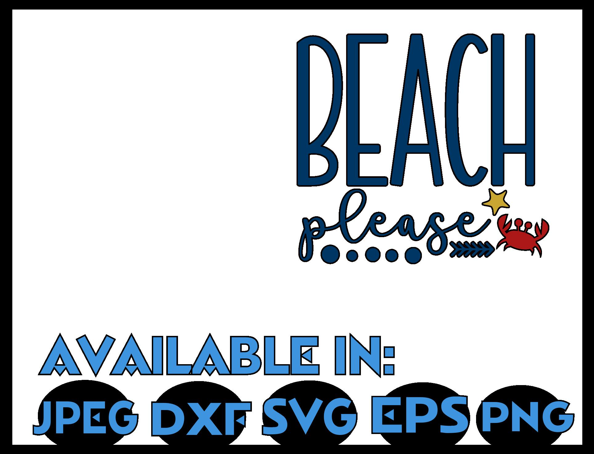 Beach SVG DXF JPEG Silhouette Cameo Cricut vacation svg example image 3
