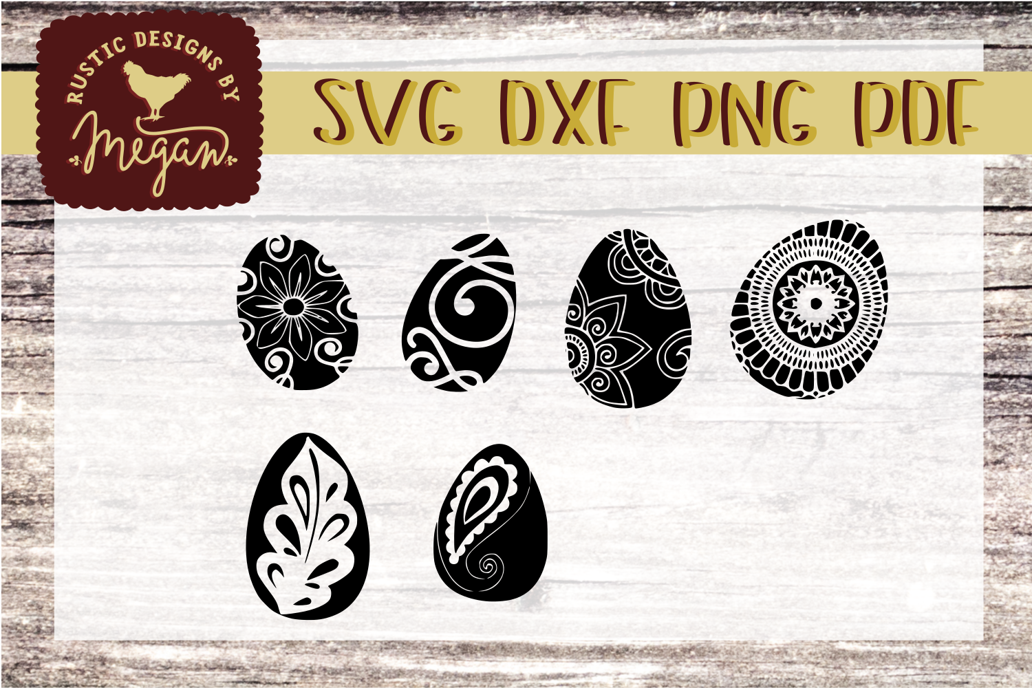 Decorated Easter Eggs SVG - Easter cut file example image 1