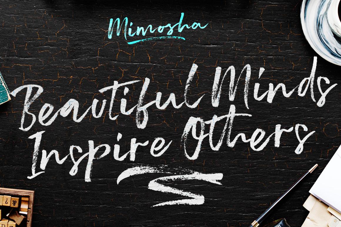 Mimosha Brush Script example image 3