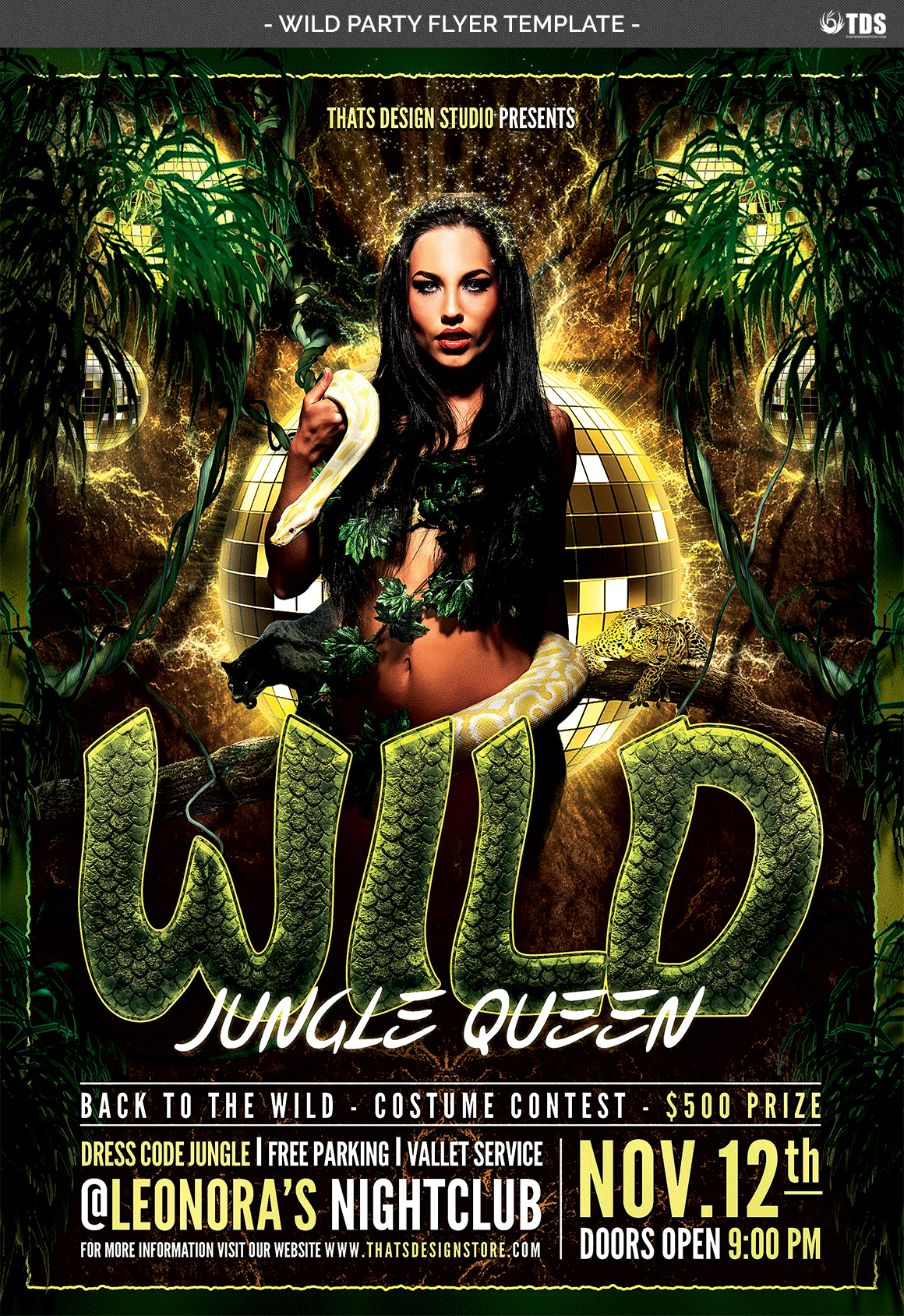 Wild Party Flyer Template example image 4