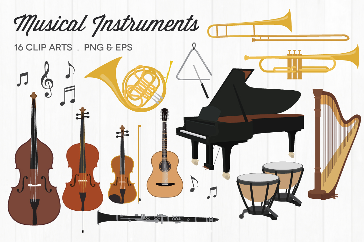 Musical Instruments Clipart example image 1