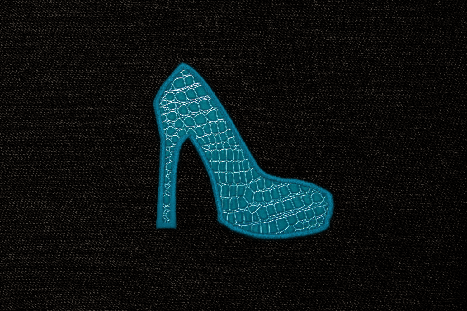 High Heel Pump Applique Embroidery Design example image 3