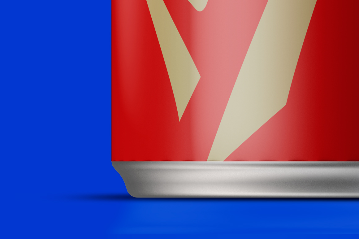 Energy Drink Can Mockup 250ml Front View example image 6