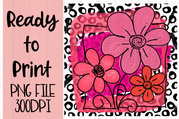 Pop Art Flower Ready to Print example image 1