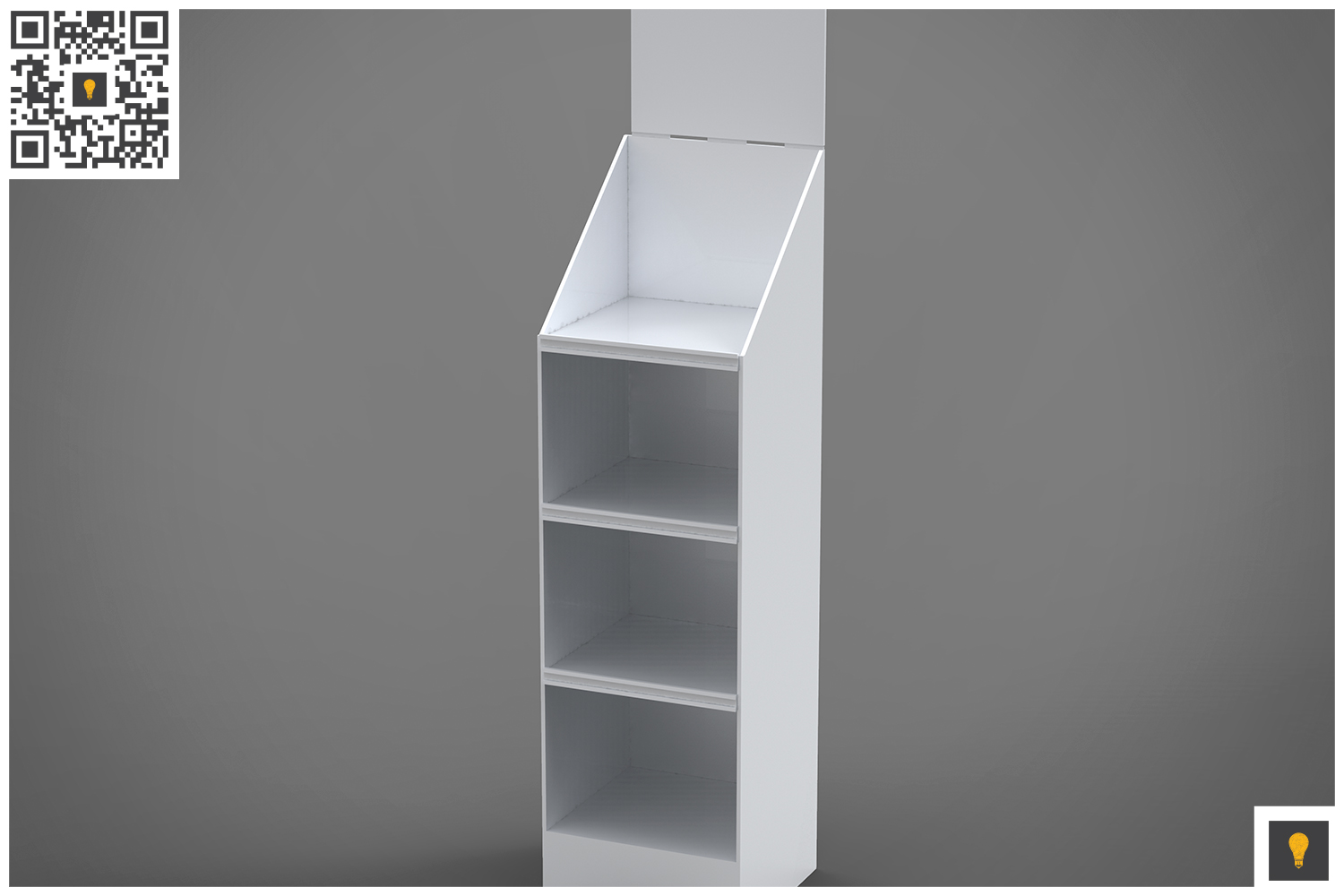Promotional Store Shelf Stand 3D Render example image 3