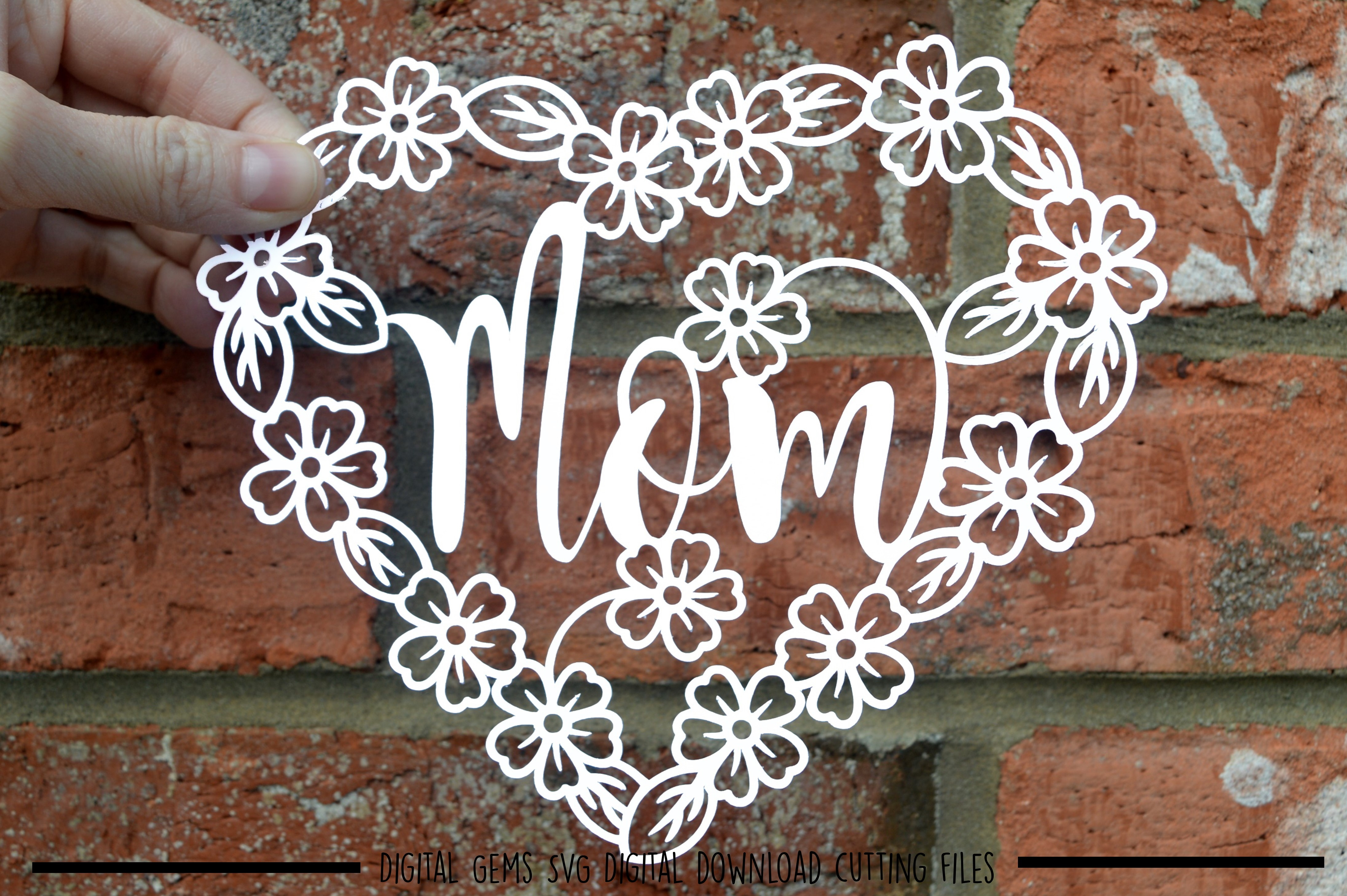 Mom paper cut SVG / DXF / EPS files example image 2
