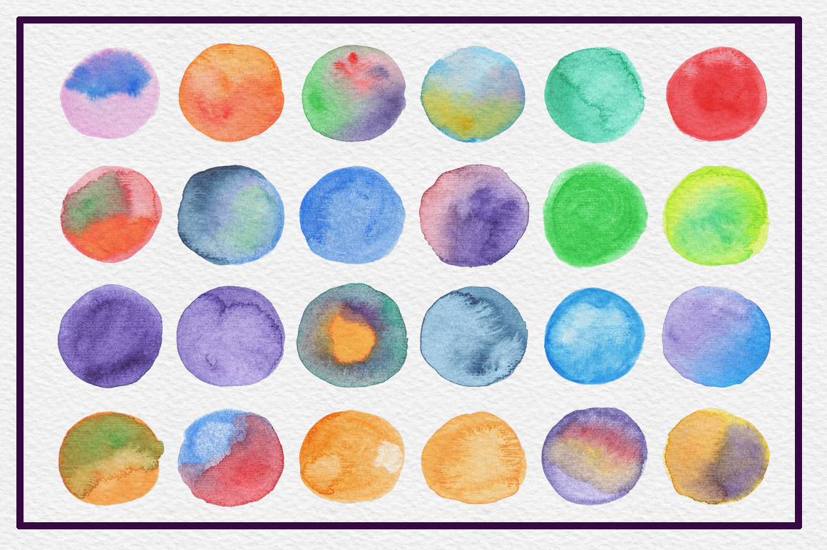 72 Circle Watercolor Textures example image 3