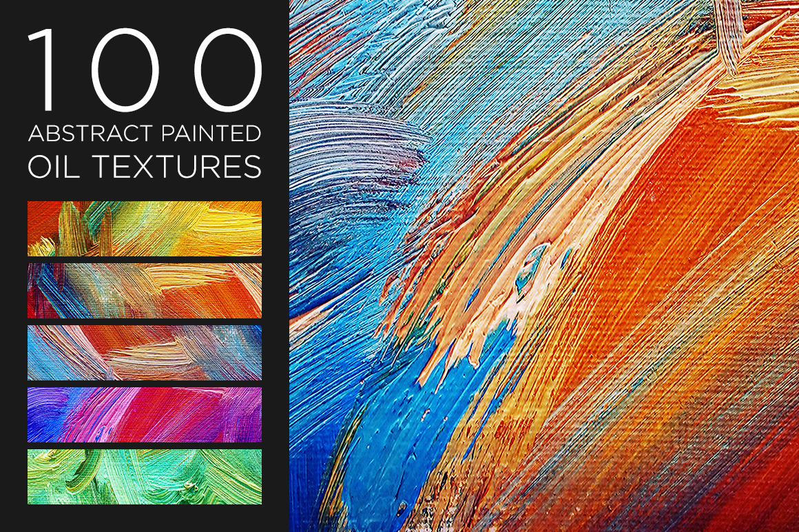 Oil Textures Abstract Painted example image 2