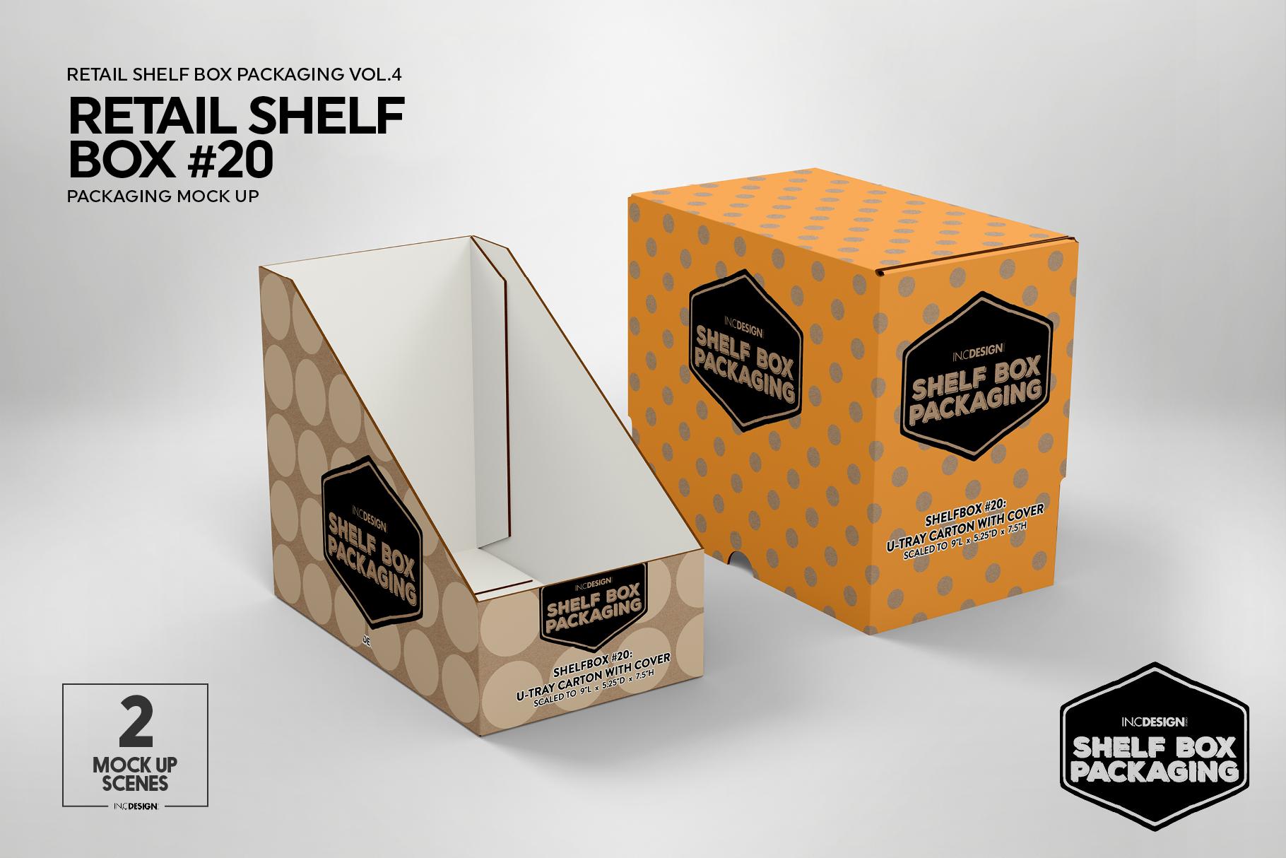 Retail Shelf Box 20 Packaging Mockup example image 8