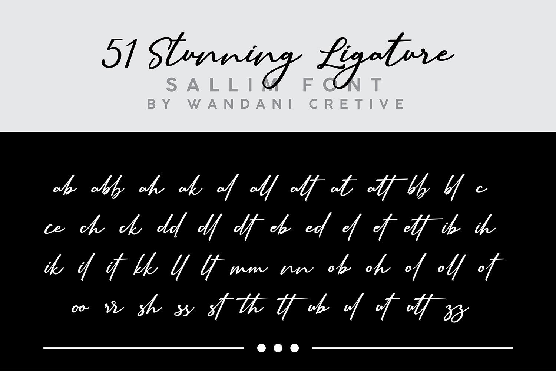 Sallim   Signature Font example image 11