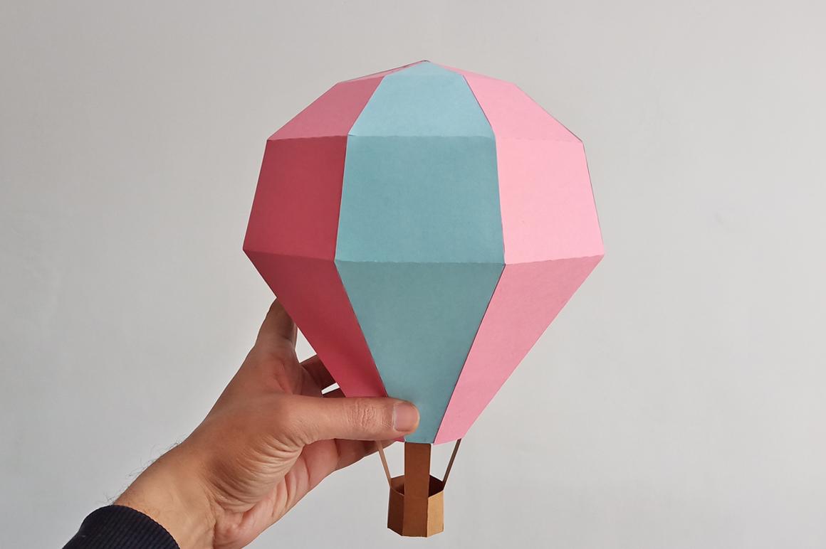 DIY Papercraft Hot air baloon decorations,cricut files,svg example image 2