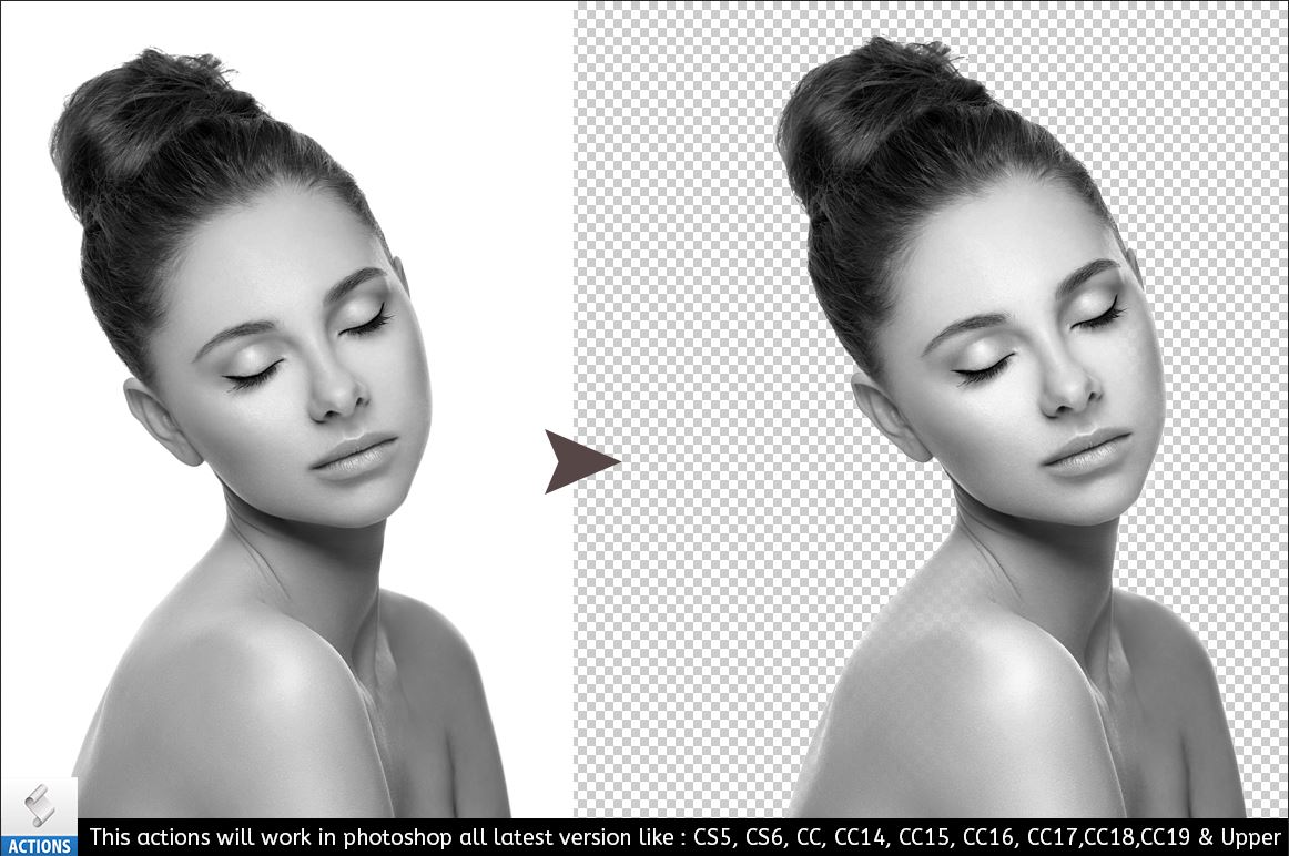 Background Remover Photoshop Action example image 3