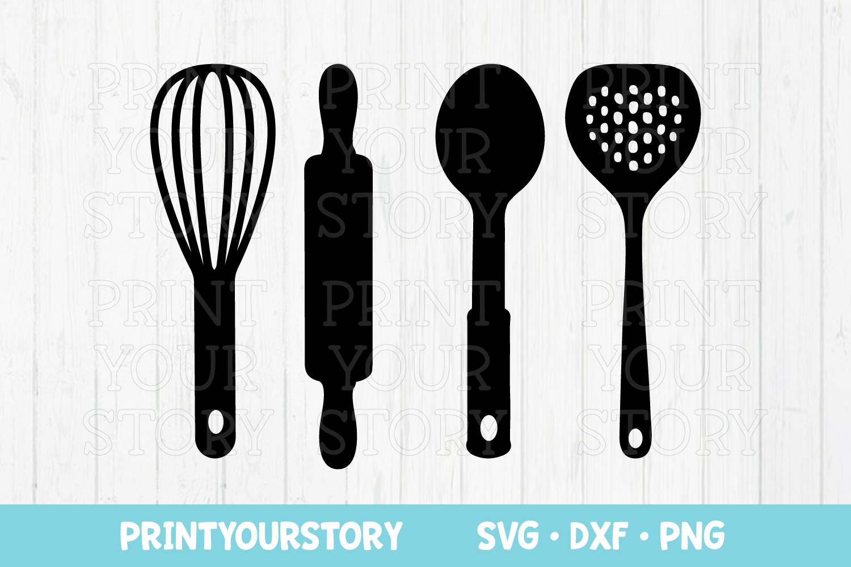 Kitchen Utensils Clipart Set Svg Dxf Png Files
