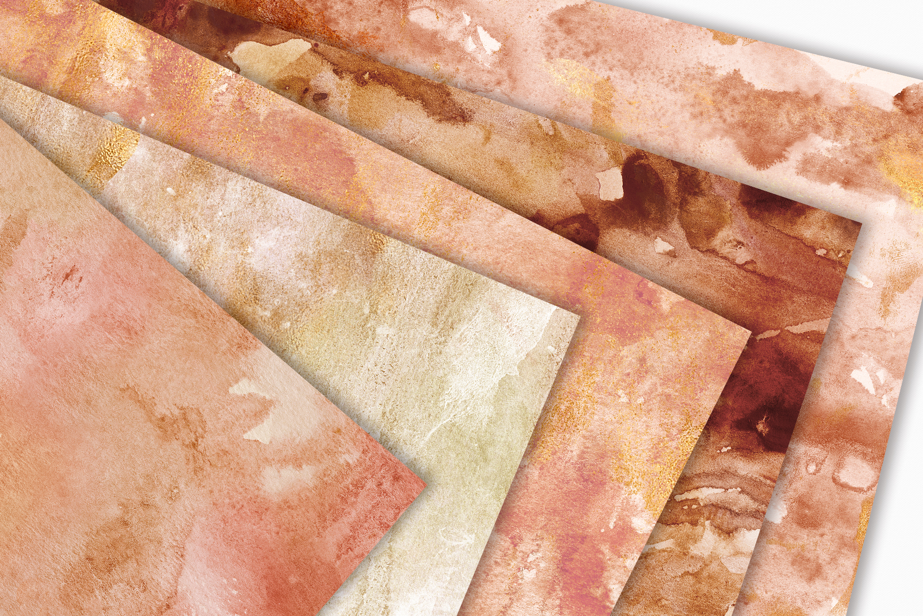 20 Seamless Watercolor Textures - Burnt Orange Backgrounds example image 2