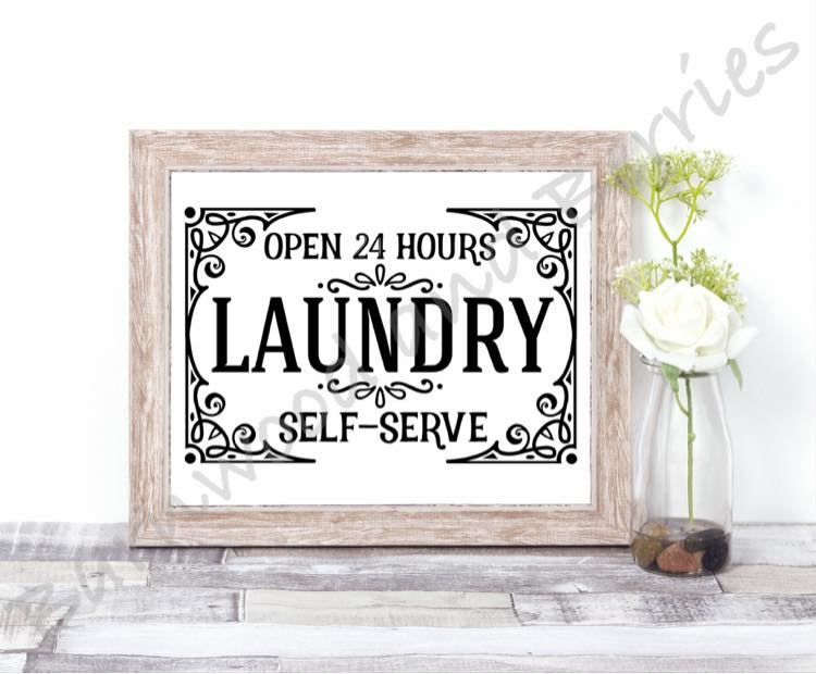 24 Hour Laundry SVG example image 1
