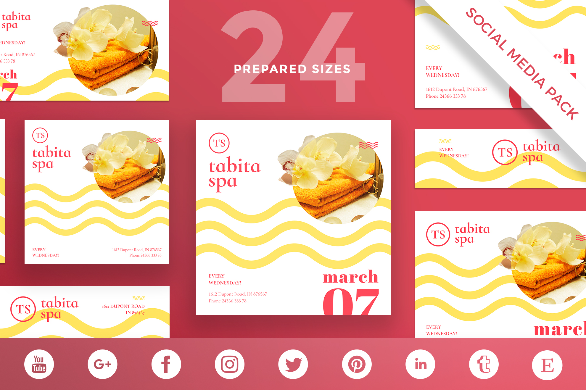 Free Bundle Flyers, Posters, Ad Banners, Social Media Covers and Posts, Business cards, Brending, Identity example image 8