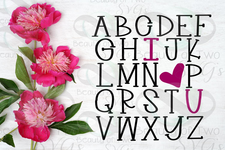 Farmhouse Valentines I love you Alphabet svg, love svg example image 3