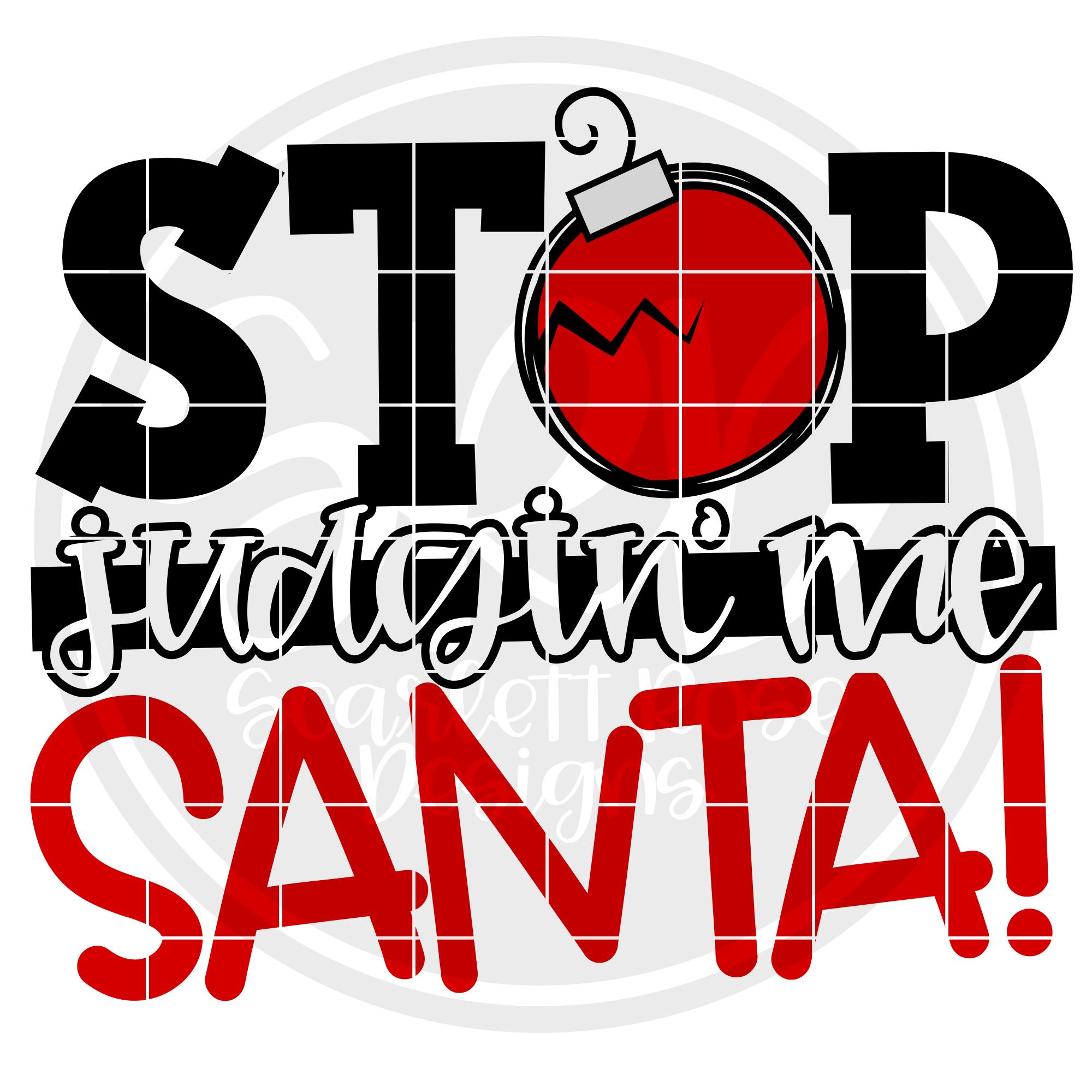 Stop Judgin' Me Santa SVG example image 2