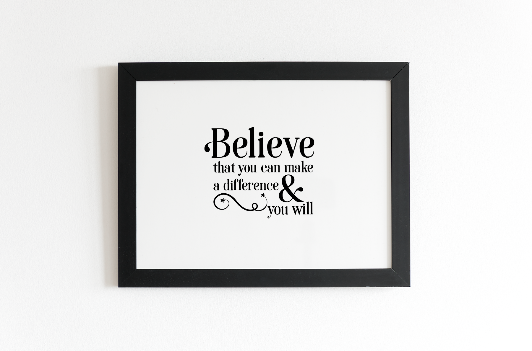 Believe Motivational Quotes - An Inspirational Set of SVG's example image 4