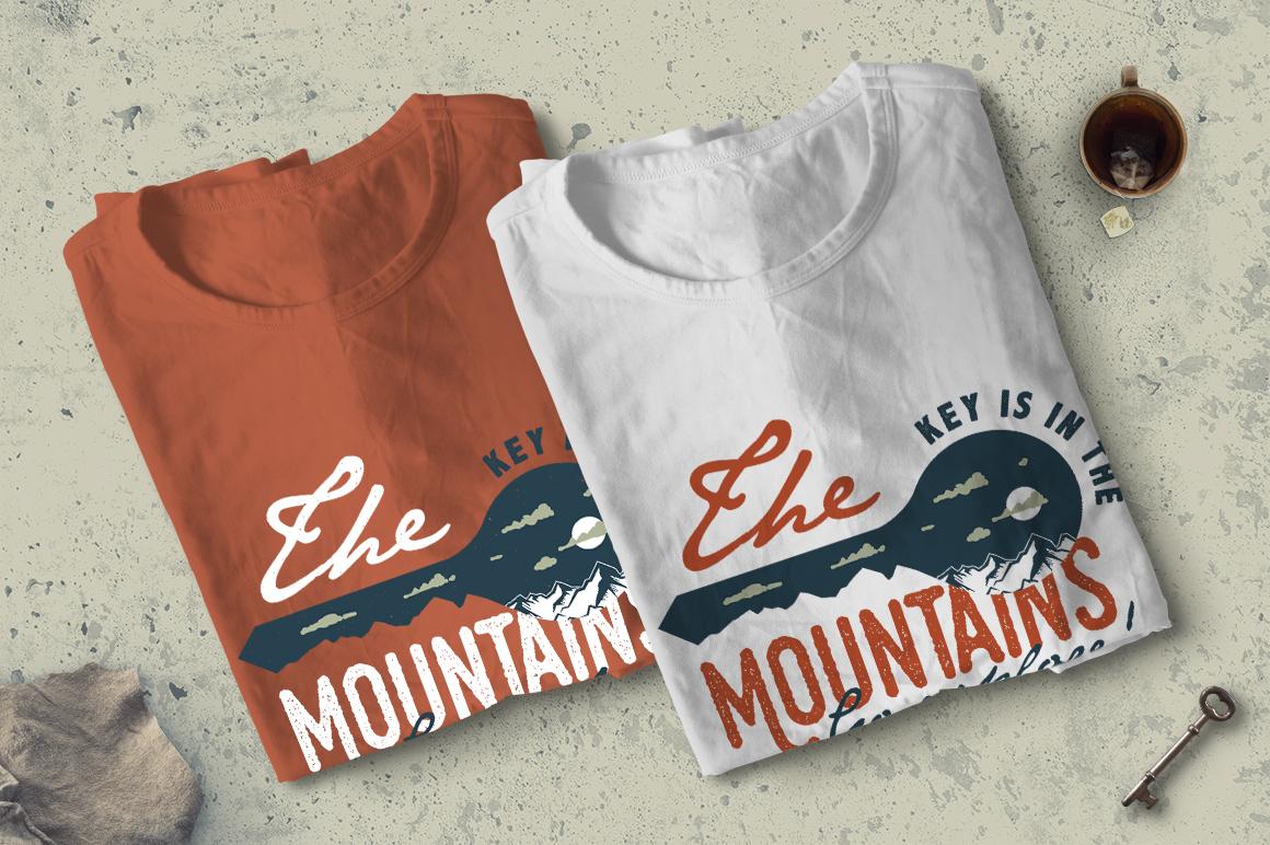 Mountain Key Logo Badge - A Mountain Adventure SVG Badge example image 4