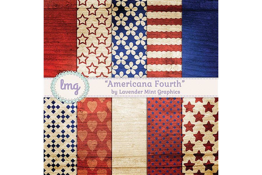Americana Fourth Digital Papers example image 1