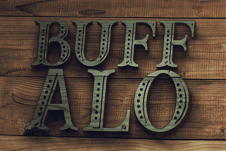 Buffalo Typeface example image 5