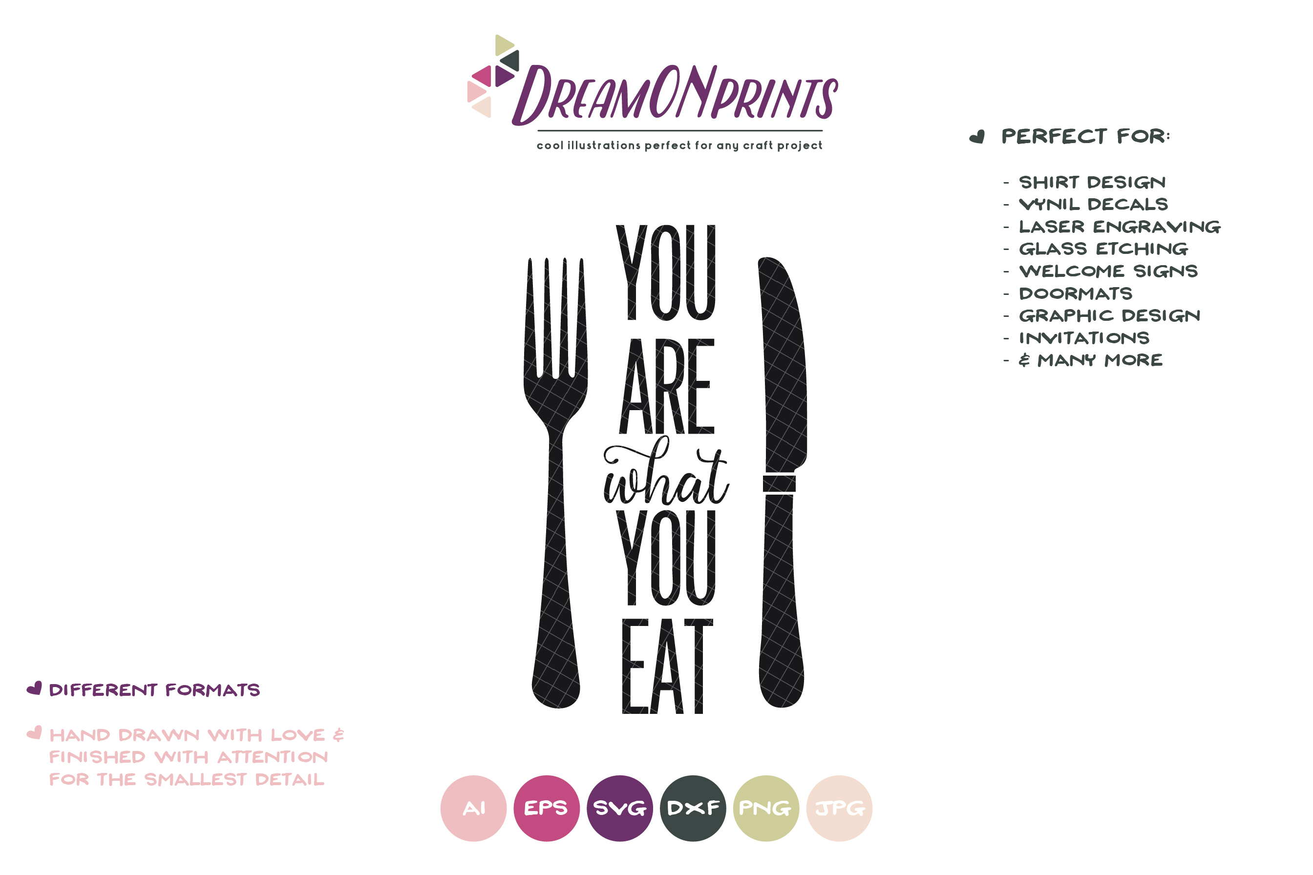 You Are what You Eat SVG - Fun Kitchen SVG Cut Files example image 2