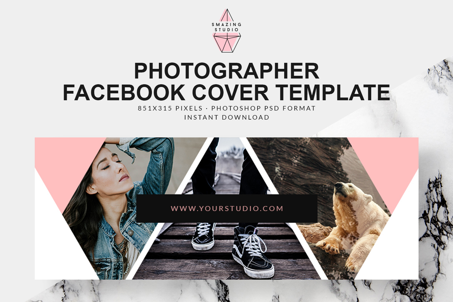 Photographer Facebook Cover Template - FBC004 example image 1