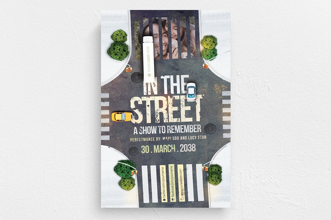 In The Street Flyer Template example image 1
