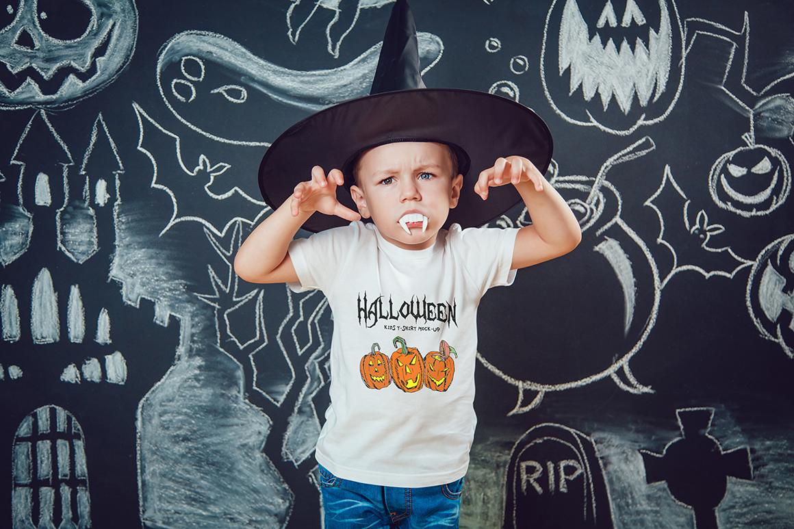 Halloween Kids T-Shirt Mock-Up example image 16