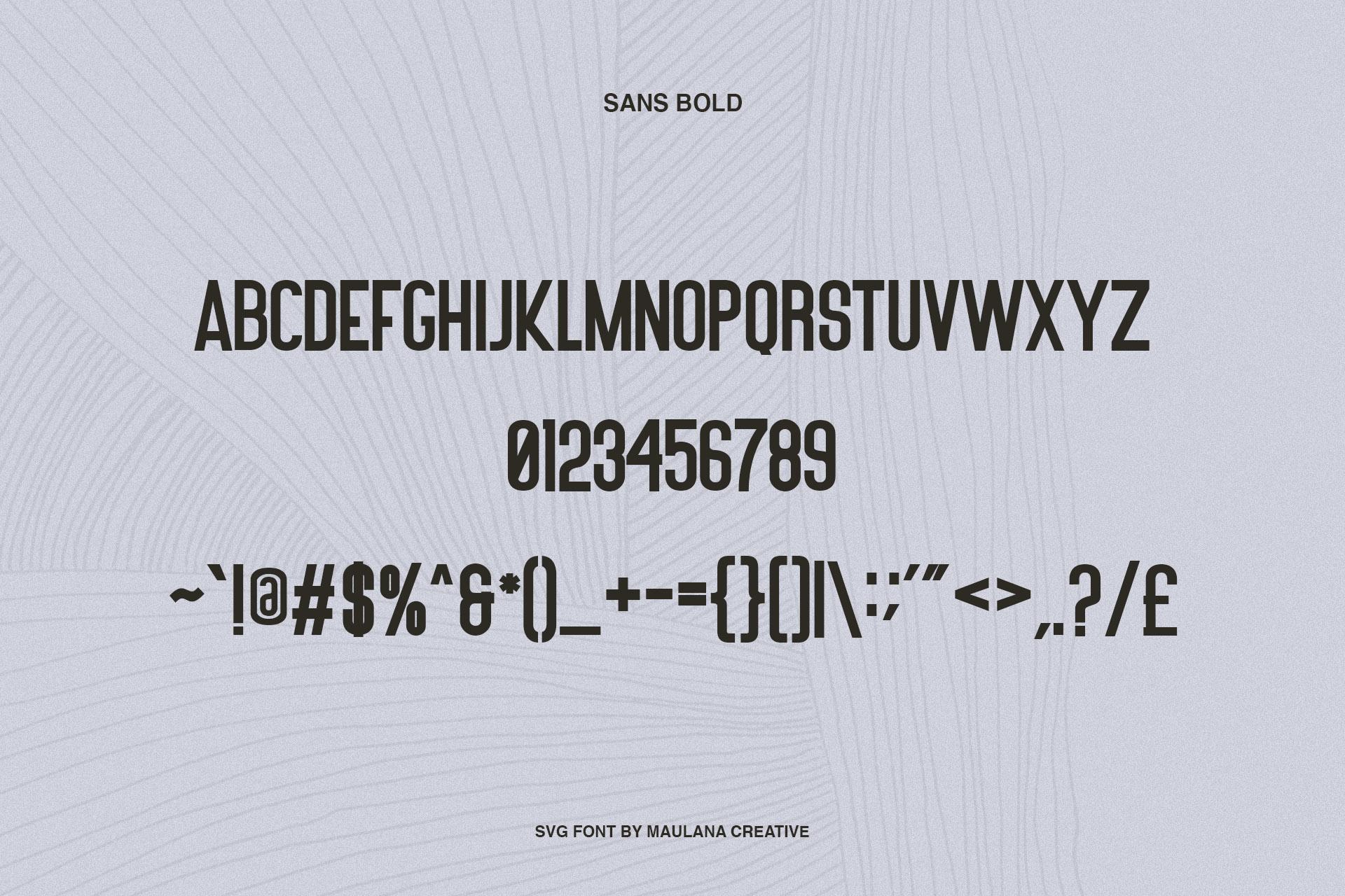 Worthness SVG Brush Font Free Sans example image 10