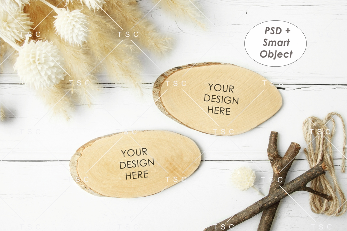 Wooden Board Mockup example image 1