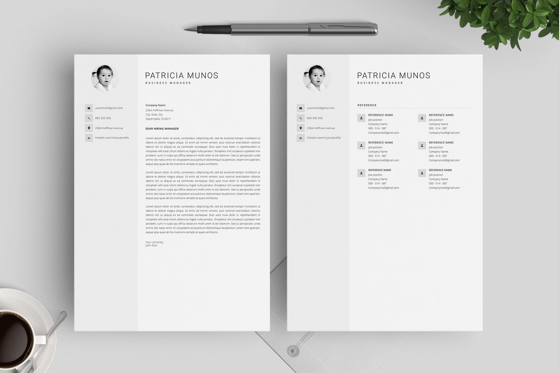Resume Template and Cover Letter / 4 Pages example image 5