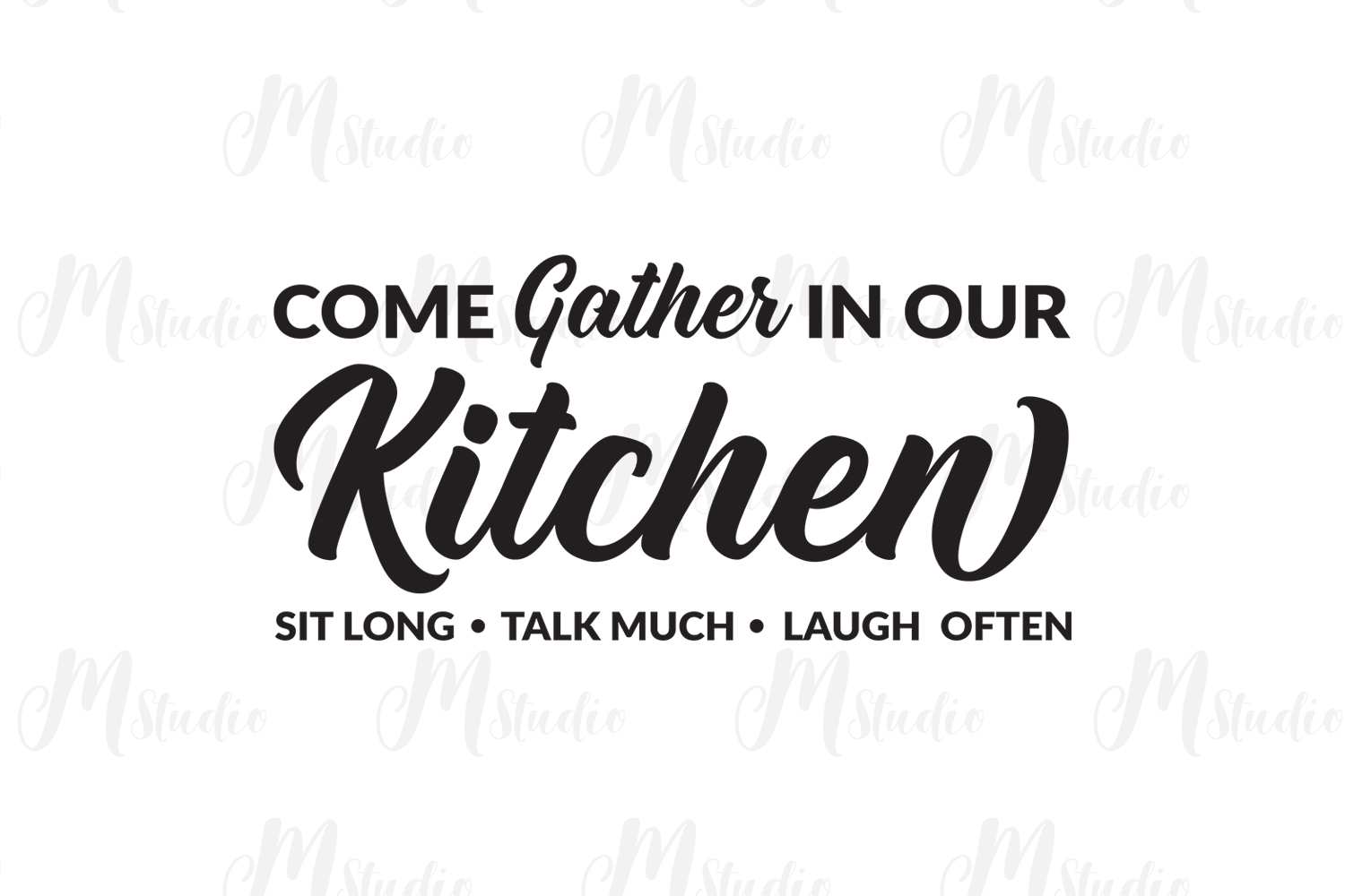 Kitchen Quotes svg bundle example image 9